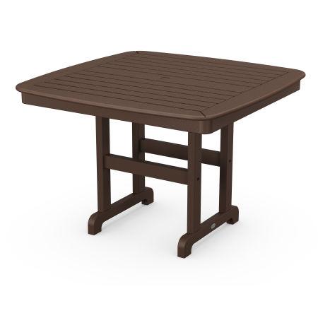 "Nautical 44"" Dining Table in Mahogany"