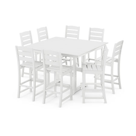 Lakeside 9-Piece Bar Side Chair Set in White