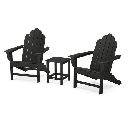 Long Island Adirondack 3-Piece Set in Black