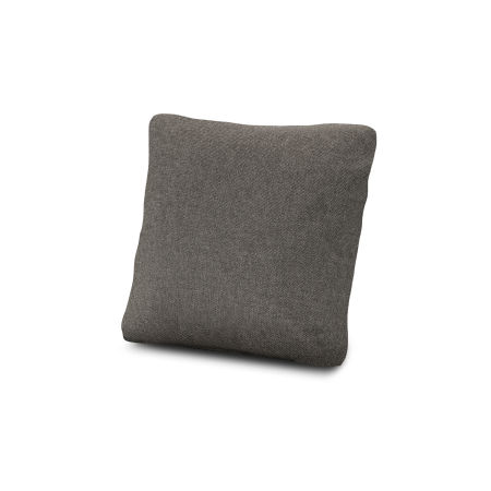 "18"" Outdoor Throw Pillow in Blend Coal"