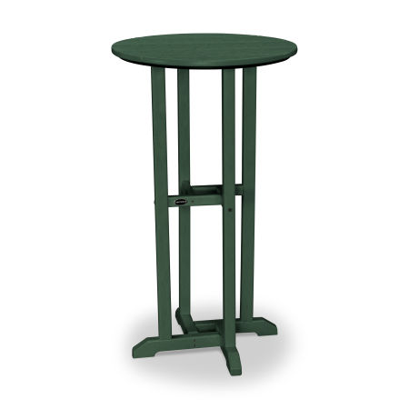 "24"" Round Bar Table in Green"