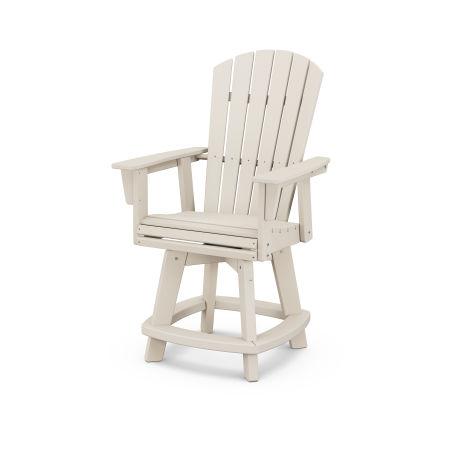 Nautical Adirondack Swivel Counter Chair in Sand