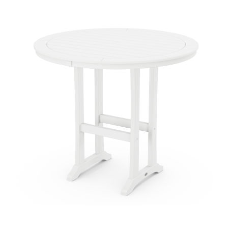 """48"""" Round Bar Table in White"""