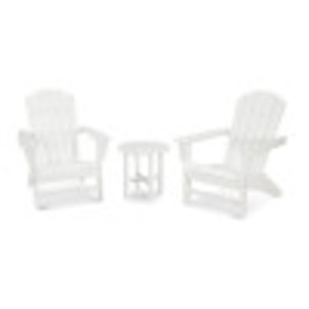Nautical 3-Piece Adirondack Set in Vintage White