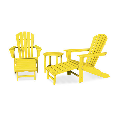 Palm Coast Ultimate Adirondack 3-Piece Set in Lemon