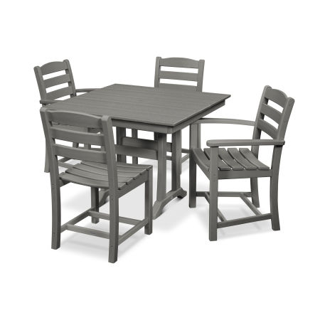 La Casa Café 5-Piece Farmhouse Dining Set