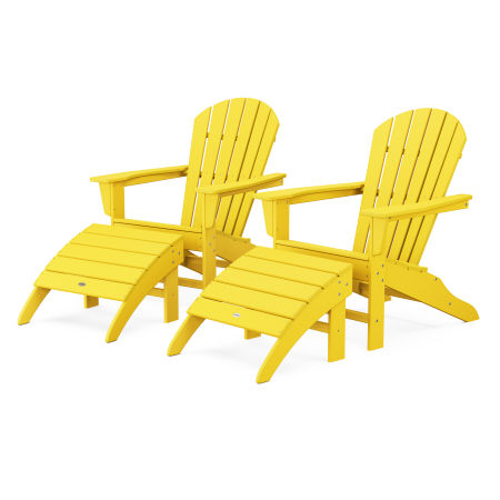 South Beach 4-Piece Adirondack Set in Lemon
