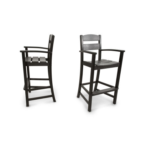Classics 2-Piece Bar Arm Chair Set in Black