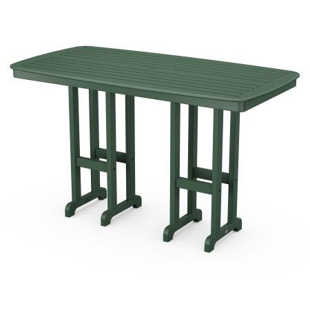 """Nautical 37"""" x 72"""" Bar Table in Green"""