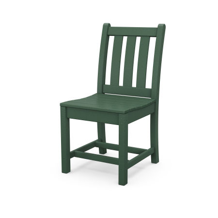Traditional Garden Dining Side Chair in Green