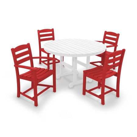 La Casa Café 5-Piece Dining Set in Sunset Red