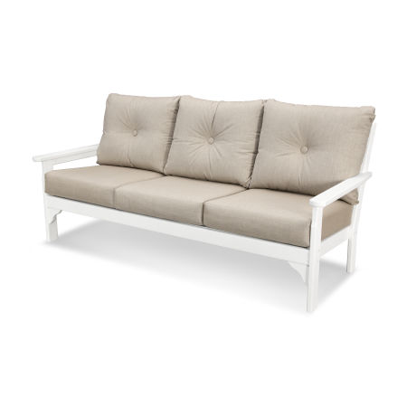 Vineyard Deep Seating Sofa in Vintage White / Cast Ash