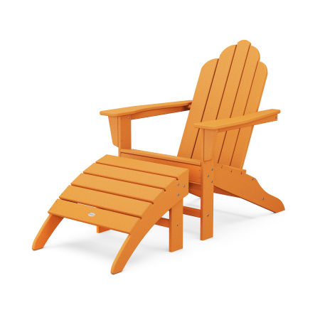 Long Island Adirondack 2-Piece Set in Tangerine