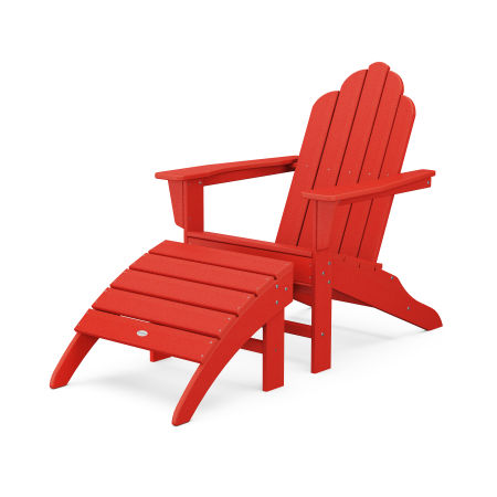 Long Island Adirondack 2-Piece Set in Sunset Red