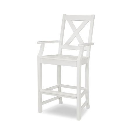 Braxton Bar Arm Chair in White