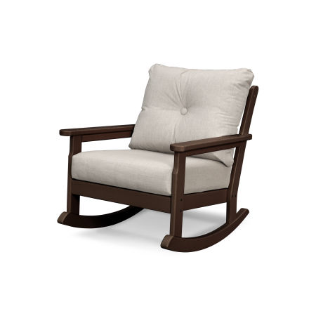 Vineyard Deep Seating Rocking Chair in Mahogany / Cast Ash