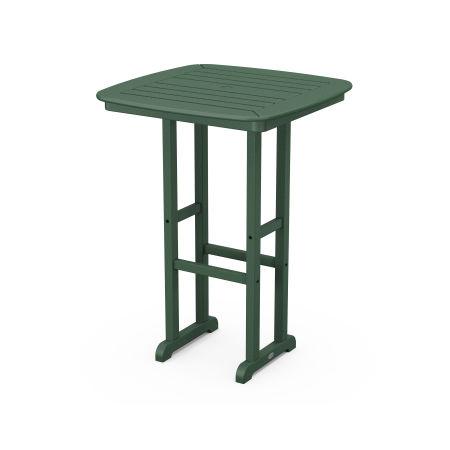 "Nautical 31"" Bar Table in Green"