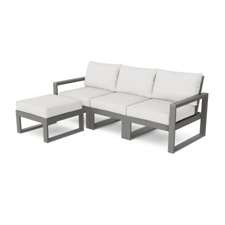 EDGE 4-Piece Modular Deep Seating Set with Ottoman