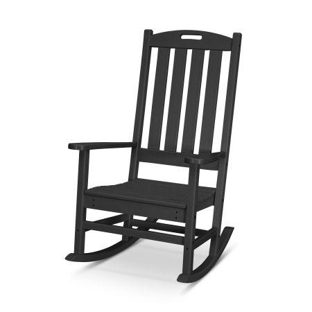 Nautical Porch Rocking Chair in Black