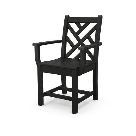 Chippendale Dining Arm Chair in Black