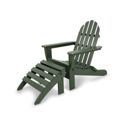 Classics 2-Piece Folding Adirondack Set in Green