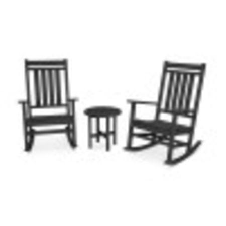 Estate 3-Piece Rocking Chair Set in Black