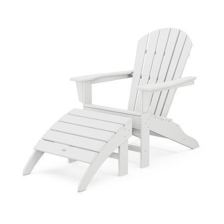 South Beach Adirondack 2-Piece Set in White