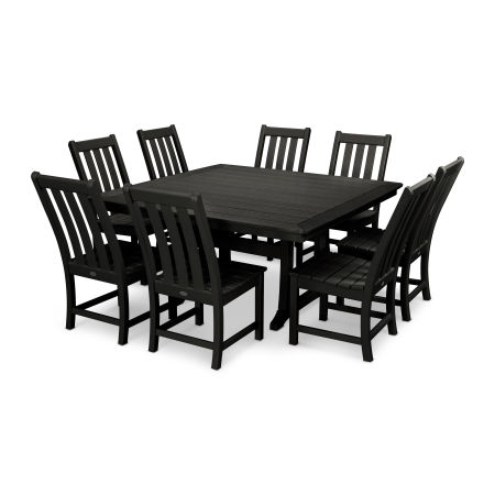 Vineyard 9-Piece Dining Set in Black