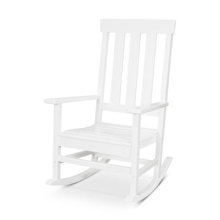 Prescott Porch Rocking Chair in White