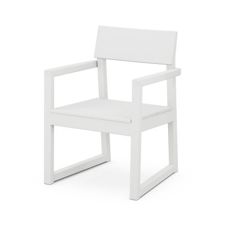 EDGE Dining Arm Chair in White
