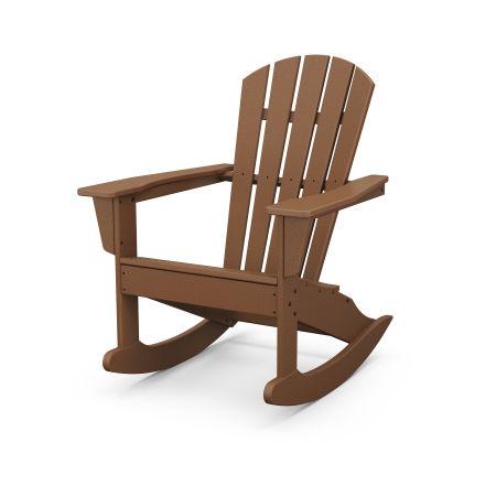 Palm Coast Adirondack Rocking Chair in Teak