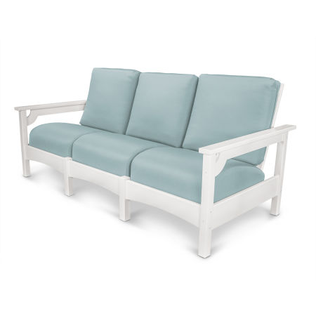Club Sofa in White / Spa