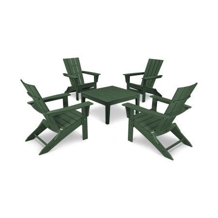 Quattro 5-Piece Conversation Set  in Green