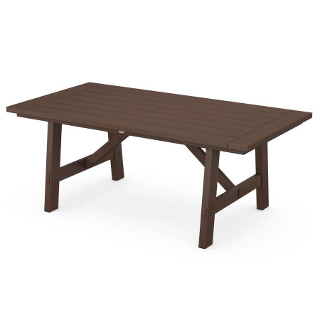 "Rustic Farmhouse 39"" x 75"" Dining Table in Mahogany"