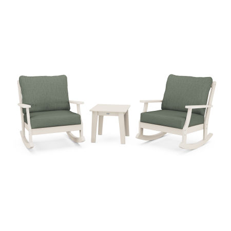 Braxton 3-Piece Deep Seating Rocker Set in Sand / Cast Sage