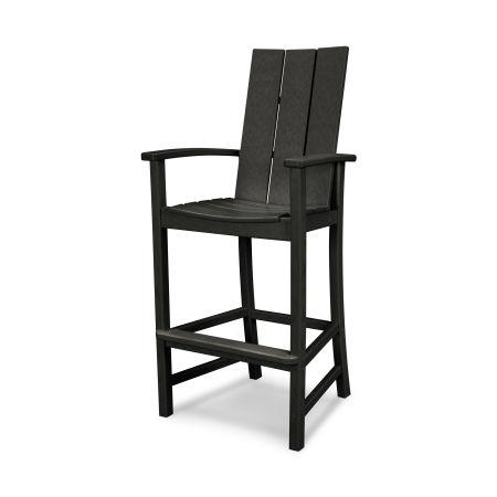 Modern Adirondack Bar Chair in Black