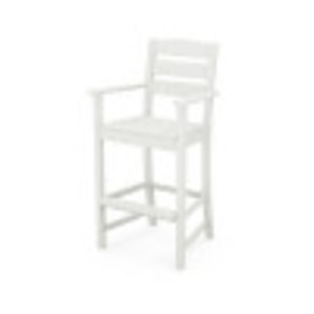 Lakeside Bar Arm Chair in Vintage White