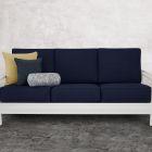 Modern Nautical 3-Piece Outdoor Pillow Set with Bolster