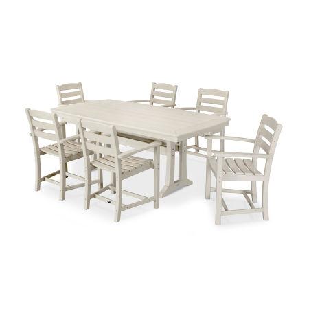 La Casa Café 7 Piece Arm Chair Dining Set in Sand