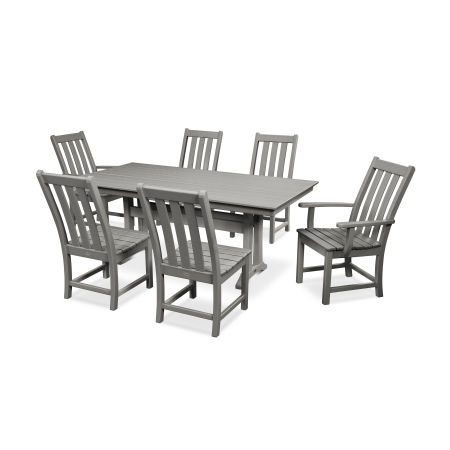 Vineyard 7-Piece Farmhouse Trestle Dining Set