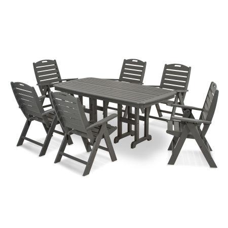 Nautical 7-Piece Dining Set in Slate Grey