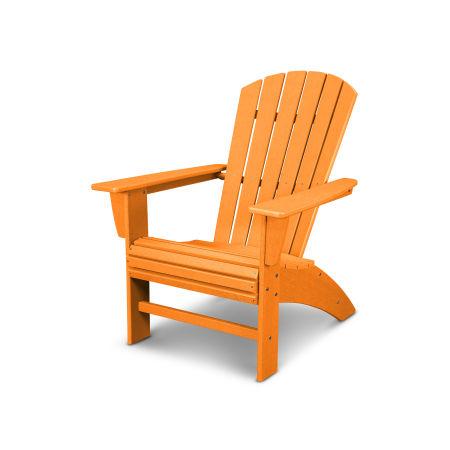 Nautical Curveback Adirondack Chair in Vintage Tangerine