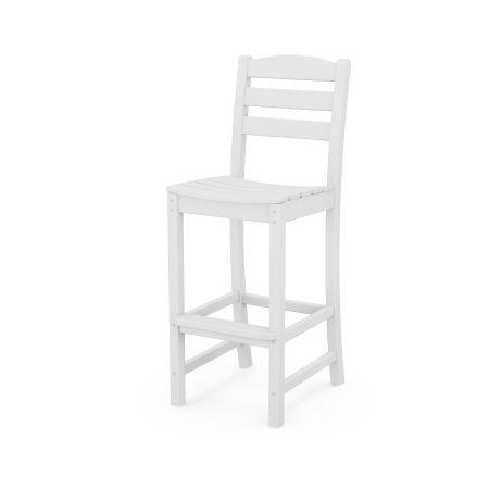 La Casa Café Bar Side Chair in White