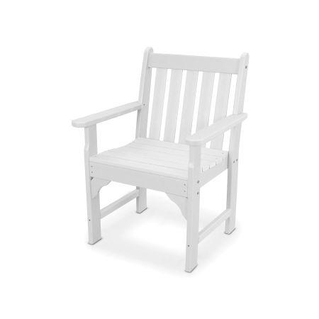 Vineyard Garden Arm Chair in Vintage White