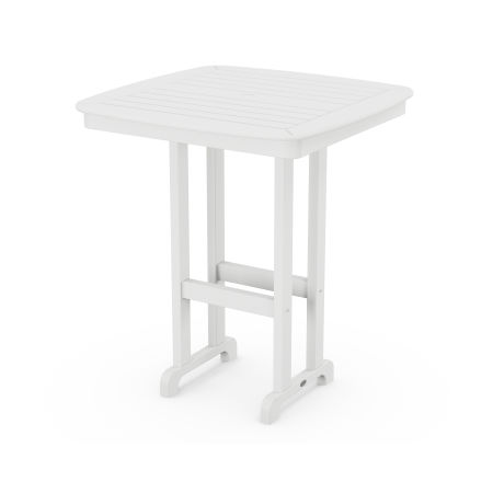 """Nautical 37"""" Bar Table in White"""