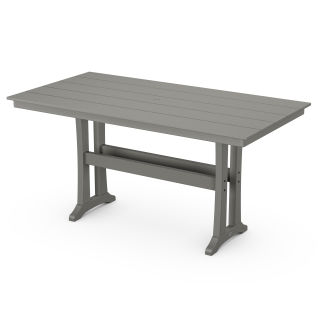 "Farmhouse Trestle 37"" x 72"" Counter Table"
