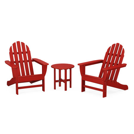 Classic Adirondack 3-Piece Set in Crimson Red
