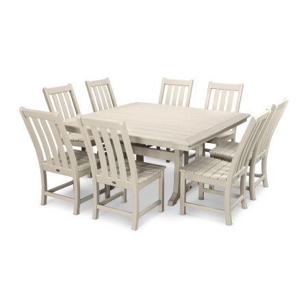 Vineyard 9-Piece Dining Set in Sand