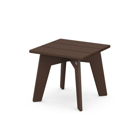 Riviera Modern Side Table in Mahogany