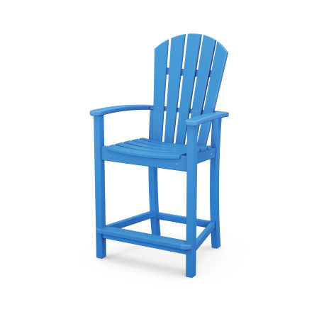 Palm Coast Counter Chair in Pacific Blue